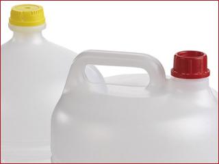 Envases de plástico por el proceso de soplado